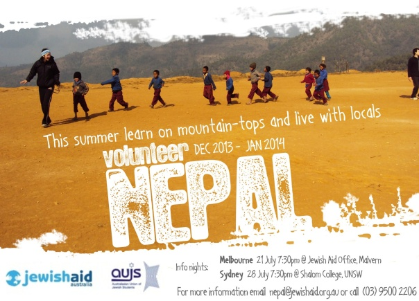 Volunteer Nepal 2013 Flier